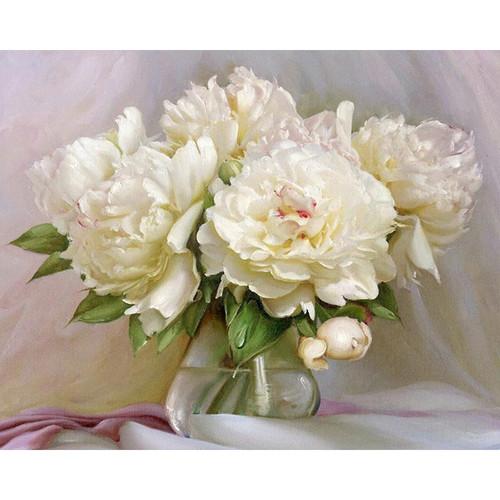 White Flower Vase - DIY Painting By Numbers Kits