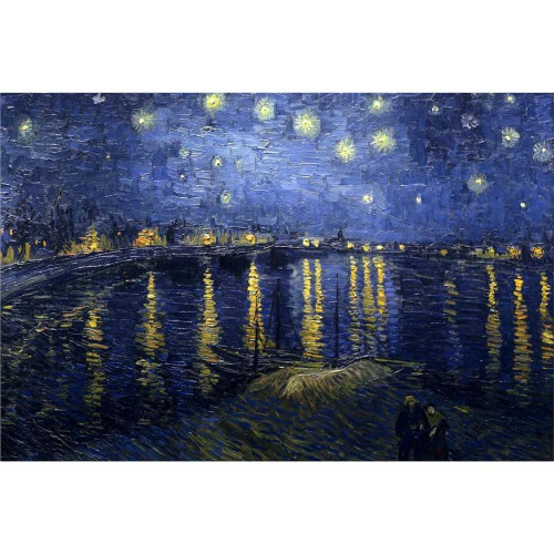 Vincent van Gogh -  Starry Night over the Rhone - DIY Painting By Numbers Kit