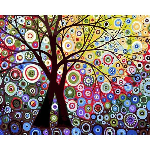 Circles Tree - DIY Painting By Numbers Kits