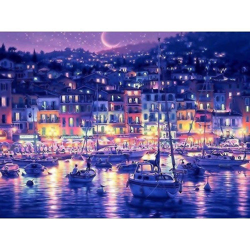 Purple Night View - DIY Painting By Numbers Kits