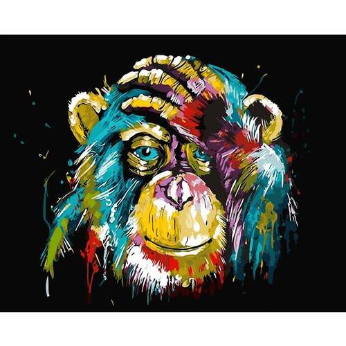 Colorful Abstract Monkey - DIY Painting By Numbers Kit