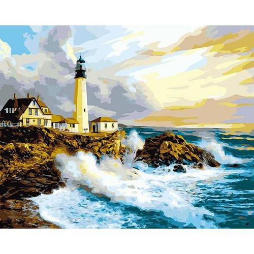 Crashing Sea Waves - DIY Painting By Numbers Kit
