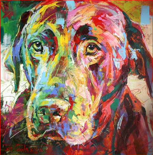 Colorful Cutie Dog - DIY Painting By Numbers Kit