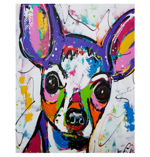 Chihuahua Colors - DIY Painting By Numbers Kit