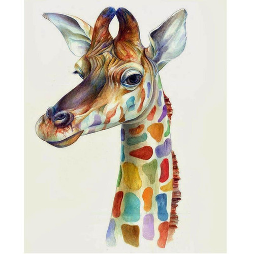 Colorful Giraffe - DIY Painting By Numbers Kit