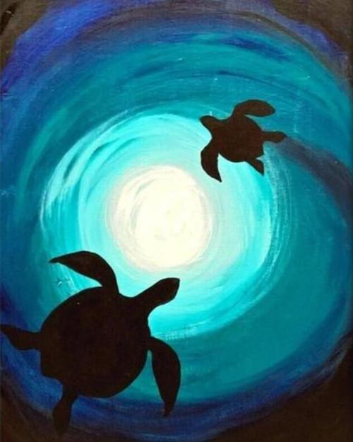 Turtle Sky - DIY Painting By Numbers Kit