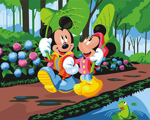Mickey And Minnie Mouse - DIY Painting By Numbers Kit