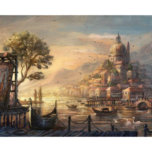 A Beautiful Lost City - DIY Painting By Numbers Kit