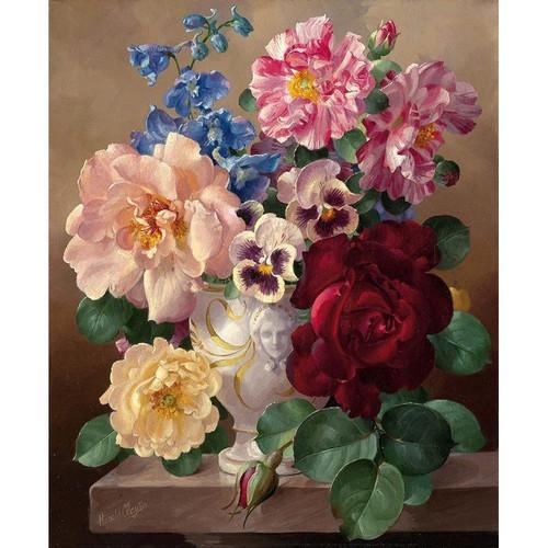 Marvelous Flowers Vase - DIY Painting By Numbers Kits