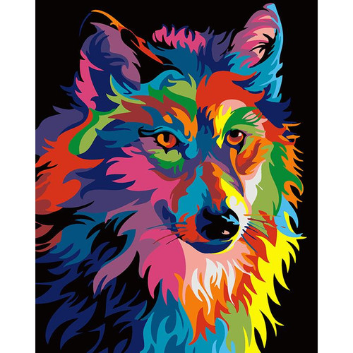 Dimensions Gray Wolf - DIY Painting By Numbers Kit