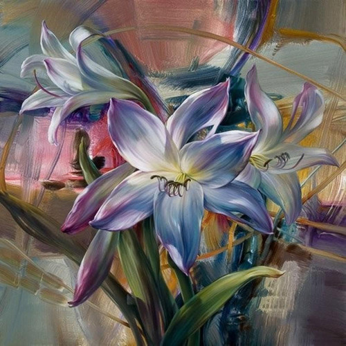 Lily Flowers - DIY Painting By Numbers Kit