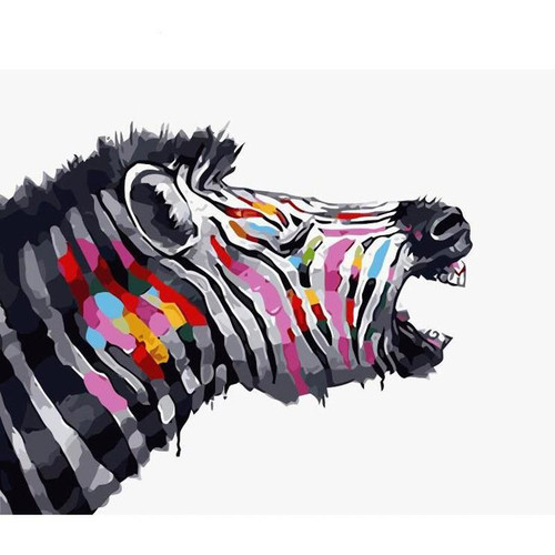 Colorful Zebra - DIY Painting By Numbers Kit