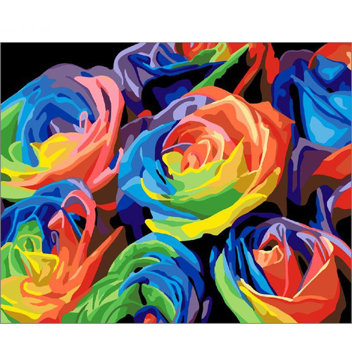 Rainbow Flowers - DIY Painting By Numbers Kits