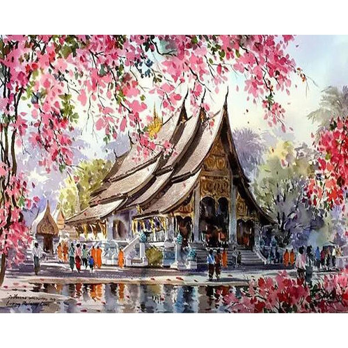 Chinese House - DIY Painting By Numbers Kit