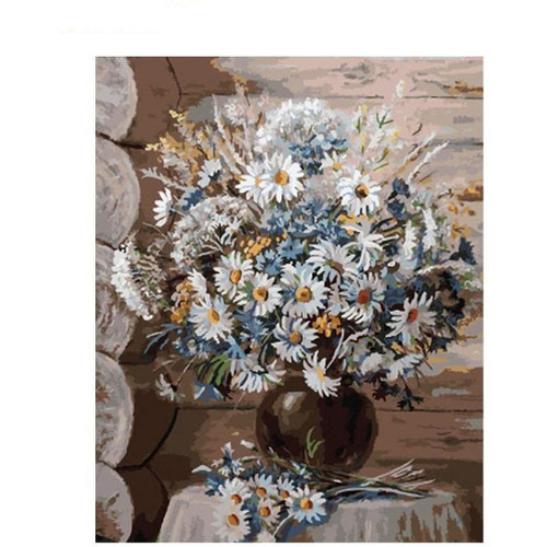 Impeccable White Flowers - DIY Painting By Numbers Kit