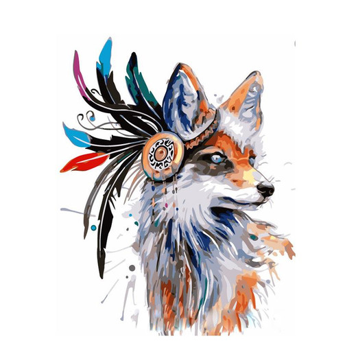 Beautiful Fox - DIY Painting By Numbers Kit