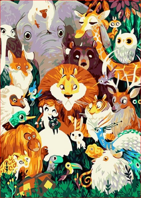 Animal Family - DIY Painting By Numbers Kit