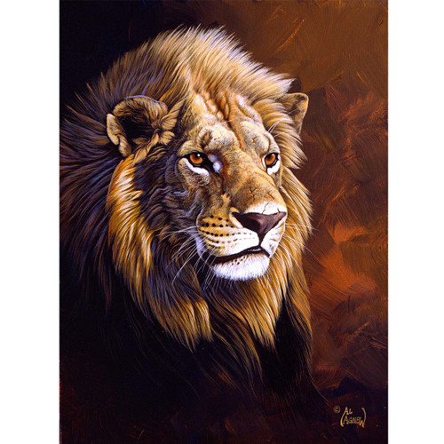 Lion Study - DIY Painting By Numbers Kit