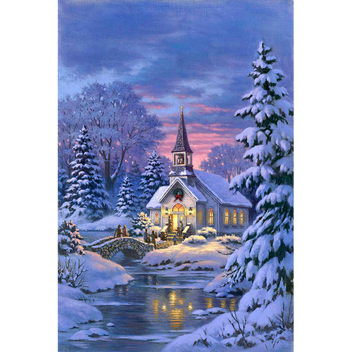 Country Church - DIY Painting By Numbers Kit