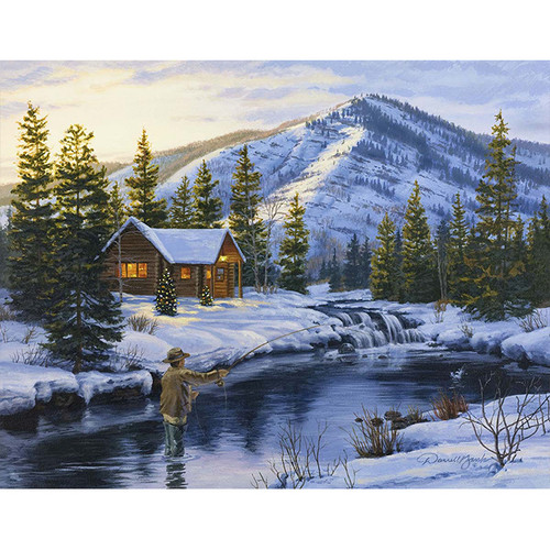 Winter Catch - DIY Painting By Numbers Kit