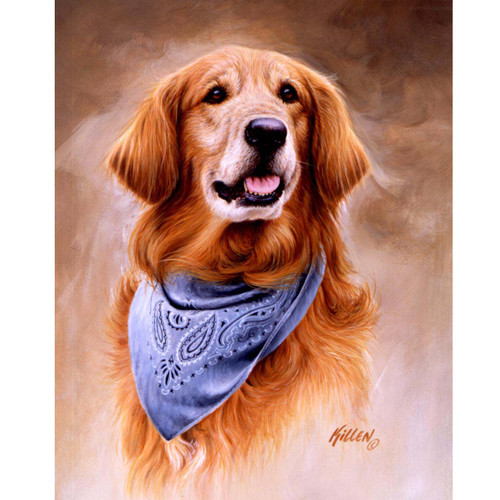 Golden Retriever with Bandana - DIY Painting By Numbers Kit