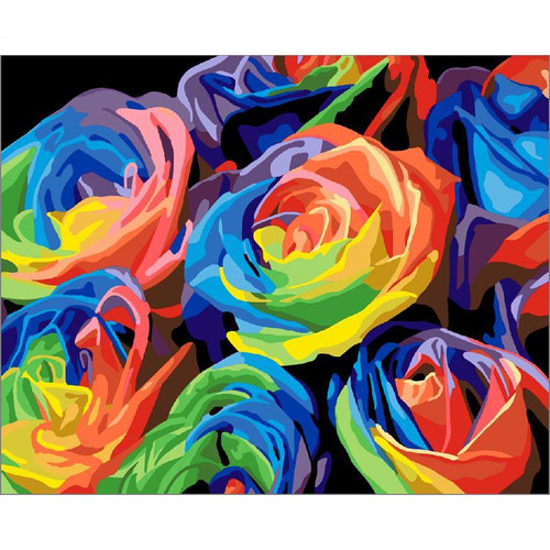 Rainbow Roses - DIY Painting By Numbers Kit