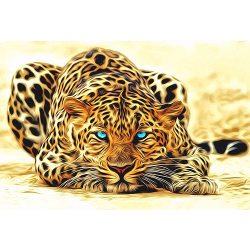 A Keen Cheetah - DIY Painting By Numbers Kit