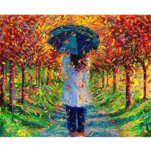 Leaf Rain - DIY Painting By Numbers Kit