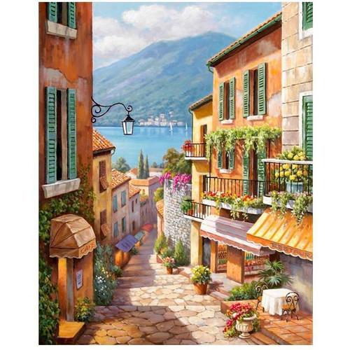 Cute Little Village - DIY Painting By Numbers Kits