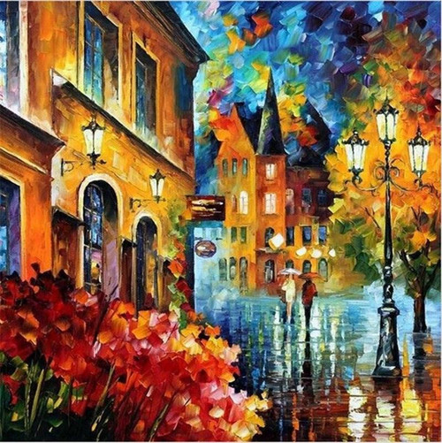 Abstract European City - DIY Painting By Numbers Kit