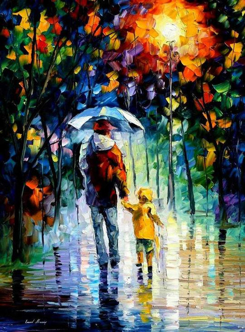 Abstract Father and Son - DIY Painting By Numbers Kit