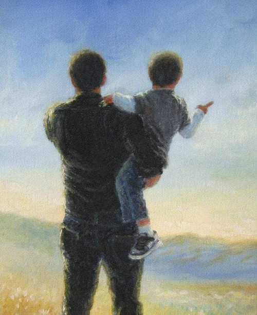 Father And Son - DIY Painting By Numbers Kit