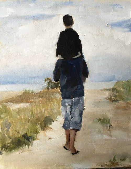 Walking Father And Son - DIY Painting By Numbers Kit