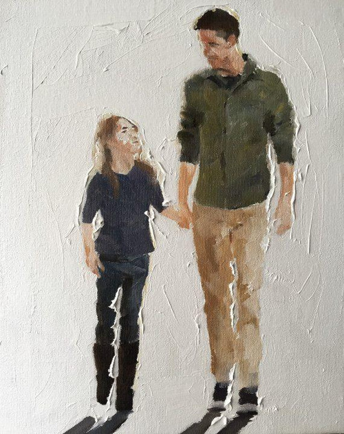 Father And Daughter - DIY Painting By Numbers Kit