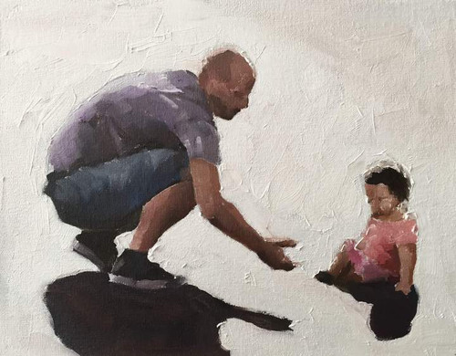 Father Playing With Daughter - DIY Painting By Numbers Kit
