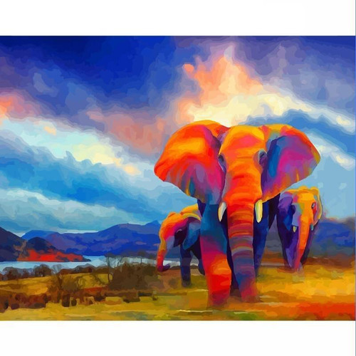 Elephants of Africa - DIY Painting By Numbers Kits