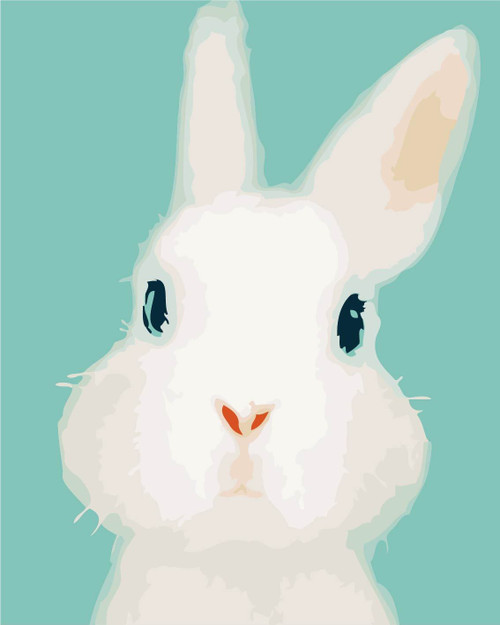 White Bunny - DIY Painting By Numbers Kit