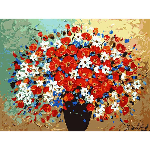 Abstract Flower - DIY Painting By Numbers Kit
