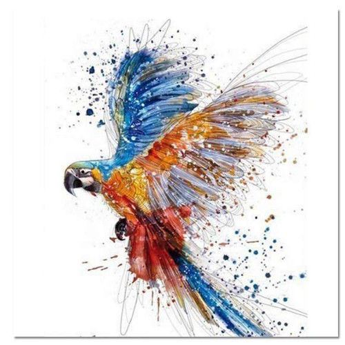 Parrot Colors - DIY Painting By Numbers Kit