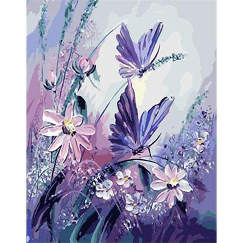 Butterflies And Flowers - DIY Painting By Numbers Kit