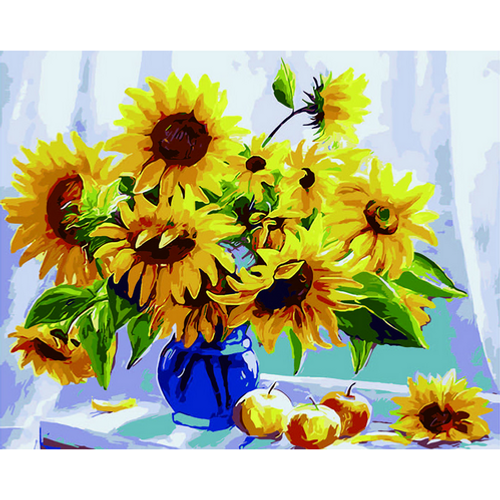 Sunflowers in a Vase- DIY Painting By Numbers Kits