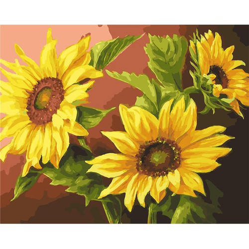 Sunflowers - DIY Painting By Numbers Kit