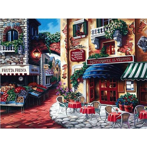 Italian Restaurant - DIY Painting By Numbers Kits