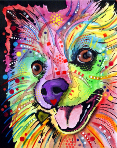 Color Pom Dog - DIY Painting By Numbers Kit