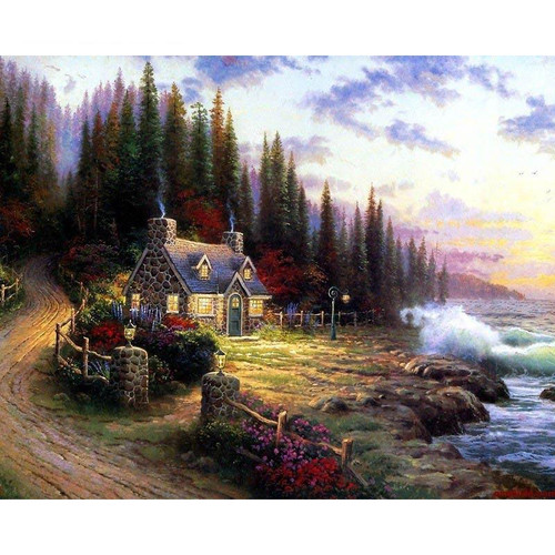 A House By The Sea - DIY Painting By Numbers Kit
