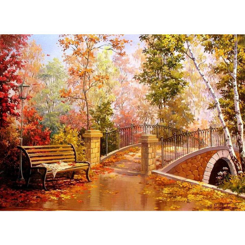 Central Park Evening - DIY Painting By Numbers Kit