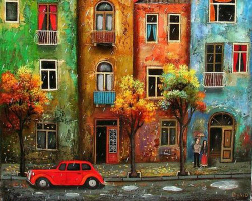 Rain & City Roads - DIY Painting By Numbers Kit