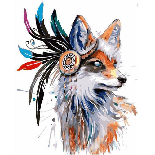 Boho Fox - DIY Painting By Numbers Kit