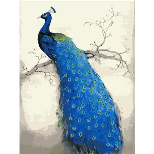 Blue Peacock - DIY Painting By Numbers Kit
