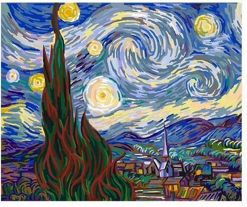 Van Gogh The Starry Night - DIY Painting By Numbers Kit